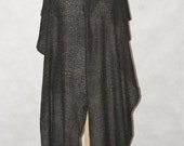 ON SALE; cashmere big stole/shawl/wrap/scarf, handmade and handdyed from double yarn, with textured pattern, ooak