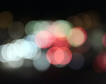 bokeh photography lights wall art print holiday decor Paris photography multicolor nature photography abstract photograh 4x6 5x7 6x8 8x10