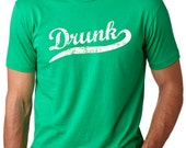 MENS Drunk T-Shirt st. patty's day shirt, cool saint patrick's day t shirt, drinking, alcoholics anonymous, craft beer, irish S-5XL