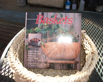 """Vintage (1989) book titled, """"Baskets""""  with instruction and many ideas for making and using baskets"""