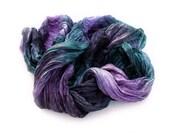 Dance of the Nigth Fairy-  lavender, purple, green, black  scarf.