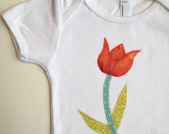 Spring Tulip Baby Onesie