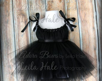 Baby toddler Tutu dress w tiara headband old hollywood costume dress up set photography prop Breakfast at Tiffany's dress NB baby