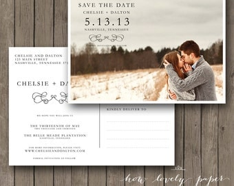 Printable Save the Date Postcard - the Hilary Collection