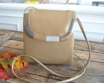 80s 90s Fall Gold Box Style Purse Made By Ande