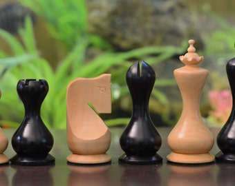 Weighted Chess Set Stained Wood Pieces Hour Glass Game.SKU: M0051