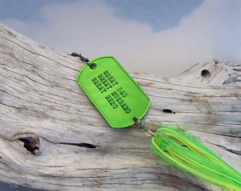 Fathers Day Personalized Gift for Dad Groomsman Best Man Gift for Wedding Favor Mens Gift for Him Embossed Fishing Lure for Fathers Day Gift
