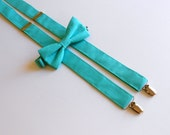 Tiffany Blue Bowtie and Suspenders Set - Men's, Teen, Youth       EASTER is March 27th!!                         2 weeks before shipping