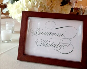 Custom Table Numbers - Custom Table Cards - 5x7, Any Color with Your Custom Wording - Table Names, Events, Dates, Places