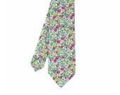 Tristan - Green/Pink Floral Men's Tie - bowtieandcotton