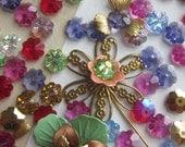 Vintage Swarovski  Crystal Flower Centers
