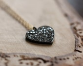 Diamond Solid Heart Necklace - A Symbol of Love Modern Mixed Metals