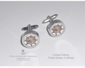 Figure in Ironwork Photo Cufflinks