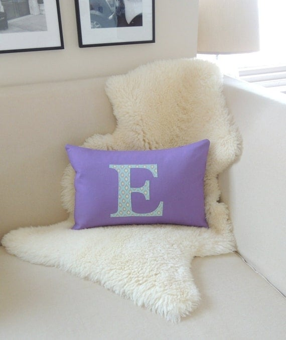 Initial Pillow Cover Boho Modern by VixenGoods on Etsy