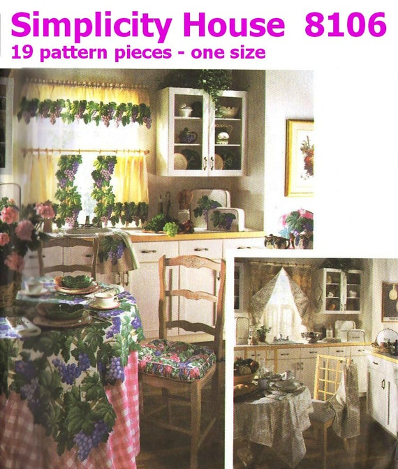 Kitchen Essentials Home Decor Uncut Sewing By Keepsakesstudio
