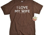I love my wife t shirt I LOVE it when My Wife® Brand lets me go fishing funny fisherman fishing tshirt gift for men husband father dad uncle