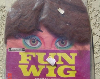 Vintage Old Halloween Fun Wig With Plastic Bag it came with HALLOWEEN ESTATE Wig