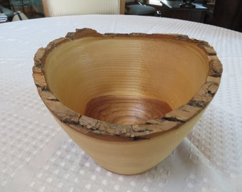 Hand Turned Wooden (Ash) Bowl