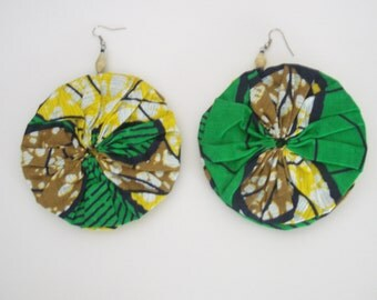 fabric wax earrings