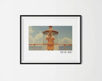 Moonrise Kingdom - Dear Sam, Where? : 11x14 or 8x10 Printable Download