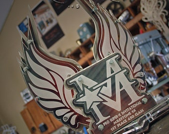 Custom Metal Trophy Modern Wings Design