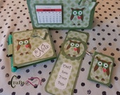 Calendar, Bookmark, Post-it Key Ring and Post-it Pad Owl Set