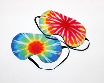 Fleece Tye Dye Sleepmasks - Set of 2 - Comes As Shown