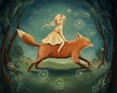 Dream Animals Fox Girl Print by Emily Winfield Martin