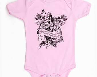 Organic Baby One Piece Alice Flamingo