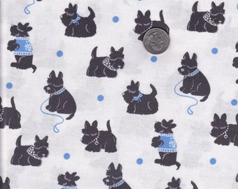 One yard - Bespoke Scotties in Boy - Houndstooth and Friends - Michael Miller cotton quilt fabric
