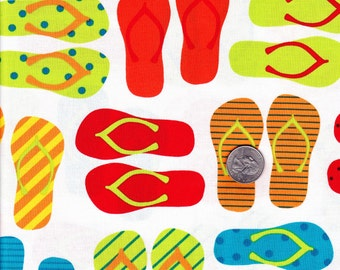 Fat quarter - Bright Flipflops - Ann Kelle This and That - Robert Kaufman cotton quilt fabric