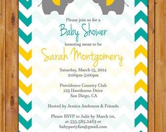 Chevron baby shower Etsy