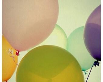 Balloon Photograph - Summer Photography - Fine Art Photography - Jovial - Balloon Print - Children's Art - Oversized Art - Home Decor - Art