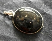 Nuumite  RARE FIND Oval  Pendant in Sterling Silver-