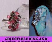 Adjustable Flower Ring & Fairy Ear Cuff tutorial | DIY | Instructions | Instant download PDF | Jewellery tutorial | Jewelry pattern