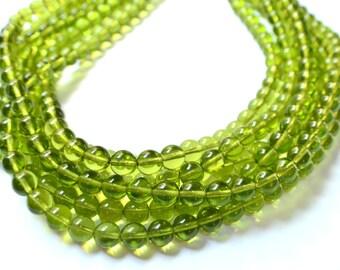 The Alana- Olive Green Czech Glass Statement Necklace