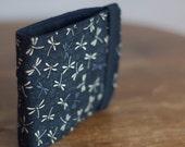 Dragonfly Fabric Wallet | Vegan Wallet | Fabric Billfold Wallet | Minimalist