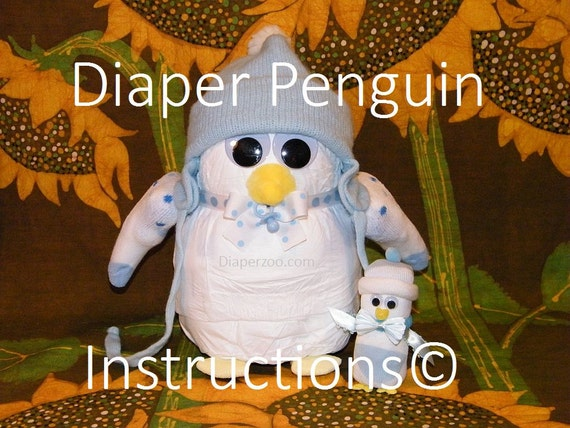D I Y Diaper Penguins Instructions For Diaper Cake