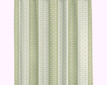 Bathroom shower Curtains Custom    Moroccan Shower Curtain Olive Green and Ivory Shower Curtain   (107)  Long Shower Curtain