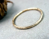petite solid 14k gold stack ring