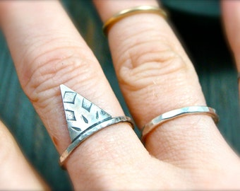 witchy woman … tiny dagger stack ring