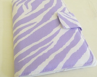 Zebra Print Kindle Fire Cover, Kindle Keyboard Cover, Lavender and White