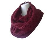 Brick Red Baby Alpaca Infinity Scarf Maroon Burgundy Oxblood Circle Loop Scarf Marsala SAMANTHA Ready to Ship - Winter Fashion