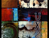 Abstract painting large Original Modern pop art deco by Fidostudio