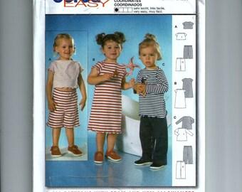 Burda Child Top, Pants, Dress Pattern 9855