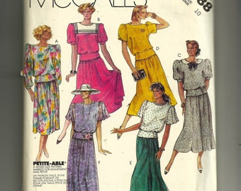 McCall's  Misses'  Top, Skirt, and Bow Tie Pattern 2988