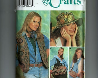 Simplicity Vest, Hat, Bag and Book Cover Pattern 8765