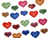 Country hearts buttons