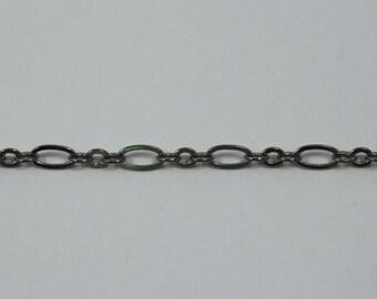 Gunmetal, 3mm & 6mm Oval Chain CC154