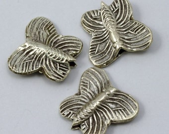Thai Sterling Silver Butterfly Bead #THS043